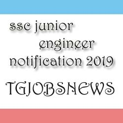 ssc junior engineer notification 2019