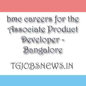 bmc careers for the Associate Product Developer - Bangalore