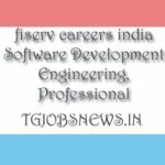 fiserv careers india Software Development Engineering, Professional