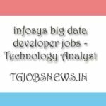 infosys big data jobs - Technology Analyst