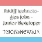 thidiff technologies jobs - Junior Developer